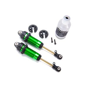 2 Amortisseurs arrière GTR aluminium vert sans ressorts - Traxxas TRX7462G
