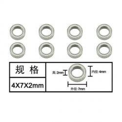 Roulements 4x7x2mm WZC001 Subotech / Metakoo