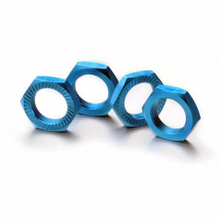 ABSIMA 2560005 - Ecrous de roue verrouillage 17mm bleu (4)