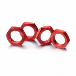 ABSIMA 2560007 - Ecrous de roue verrouillage 17mm rouge (4)