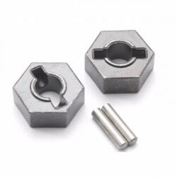 Hexagones de roues Acier + goupilles Traxxas 4954R