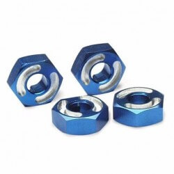 Hexagones de roues Alu + goupilles Traxxas 4954X