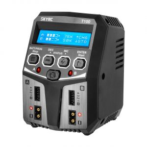 Chargeur DUO SkyRC T100 LiPo 2-4s 5A 2x50W - SK100162