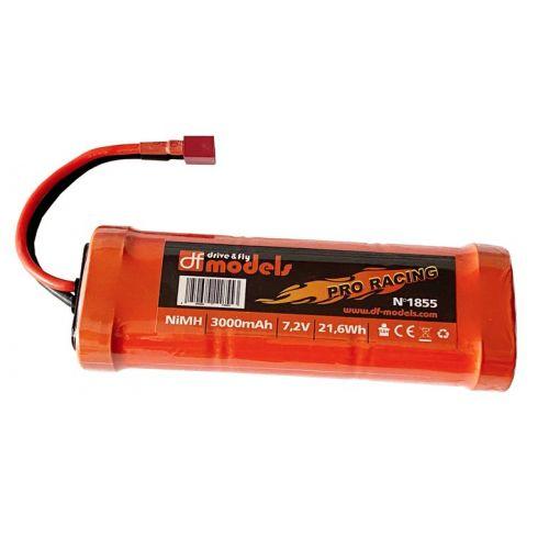 Batterie NI-MH 7,2V 3000 mAh prise DEAN T-Plug (138x48x25mm)