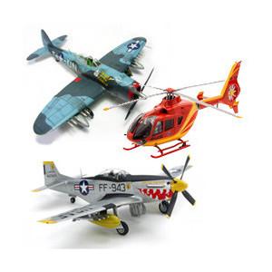 Maquette avion et hélicoptère civil