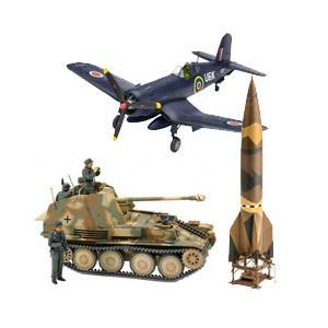 Maquette militaire : tank, avion, soldat…